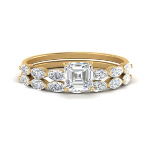 asscher-cut-single-prong-marquise-diamond-engagement-ring-and-band-in-FD9939AS-NL-YG