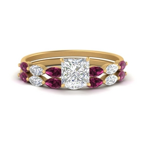 princess-cut-single-prong-marquise-pink-sapphire-engagement-ring-and-band-in-FD9939PRGSADRPI-NL-YG