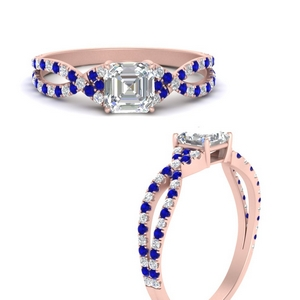 asscher-cut-split-band-pave-diamond-engagement-ring-with-sapphire-in-FD9956ASRGSABLANGLE3-NL-RG