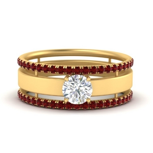 round-solitaire-ring-with-ruby-stacking-bands-in-FD9990RORGRUDR-NL-YG-GS