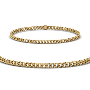 Cuban 3 MM Link Chain Bracelet