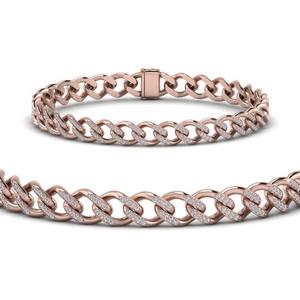 Cuban Diamond Bracelet 9 mm