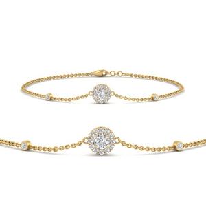 Halo Chain Diamond Bracelet