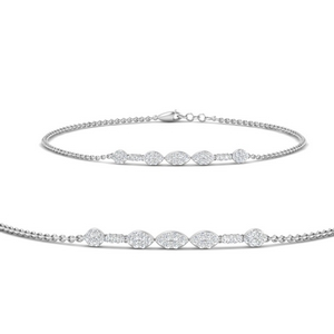 Marquise Cluster Chain Bracelet