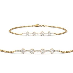 Cluster Bar Chain Stack Bracelet