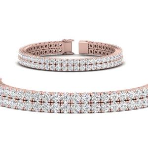 Two Row Diamond Tennis Bracelet