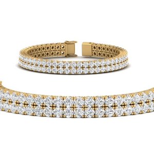 2 Row Diamond Tennis Bracelet