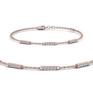 Simple Chain Diamond Bracelet