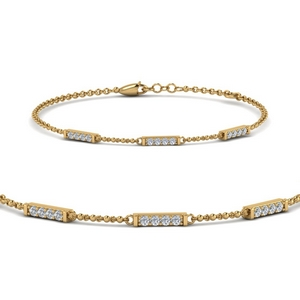 Simple Chain Diamond Bracelet