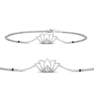 Cute Lotus Chain Bracelet