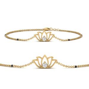 Cute Lotus Chain Bracelet
