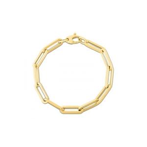 Paper Clip Gold Bracelet