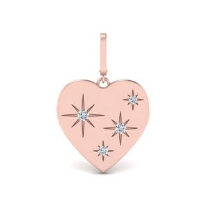 Heart Starburst Diamond Charm