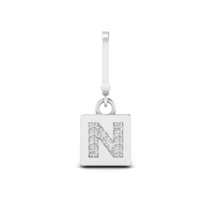 Initial Letter Diamond Charm