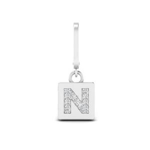 Initial Letter Diamond Charm