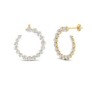 Single Prong Circle Stud Earring