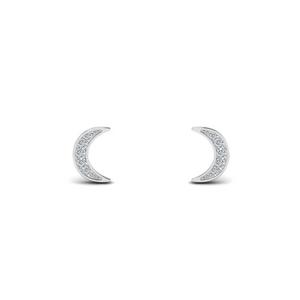 crescent moondiamond earring in FDEAR86941ANGLE1 NL WG