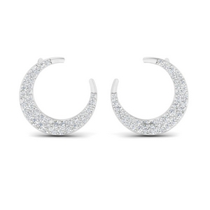 Crescent Moon Diamond Earring