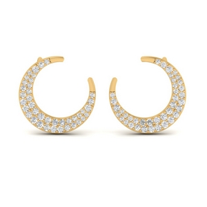Moon Diamond Stud Earring