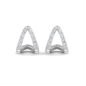 V Diamond Stud Earrings