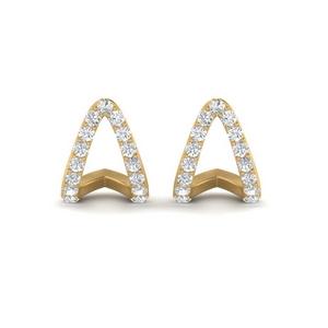 V Diamond Stud Earring