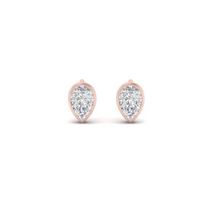 Tiny Pear Diamond Stud Earring