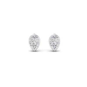 Tiny Bezel Set Diamond Earring