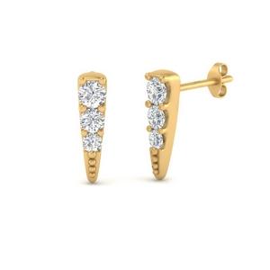 Tiny Spike Diamond Earring