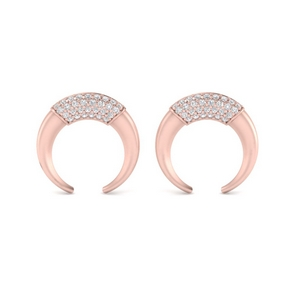 Horseshoe Taureau Diamond Earring