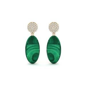 Green Malachite Drop Earring
