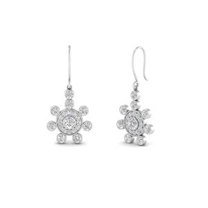 Art Deco Dangle Diamond Earring