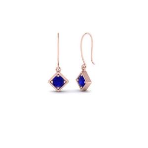 Delicate Kite Sapphire Drop Earring