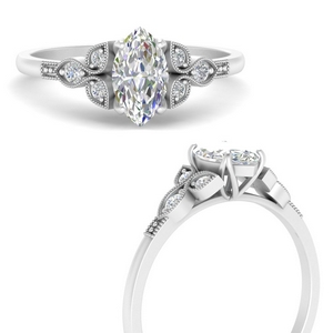 Marquise Moissanite Vintage Ring