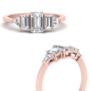 5 Stone Diamond Trillion Ring