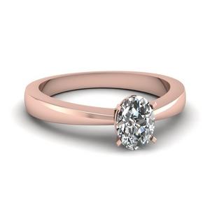 1 Karat Oval Engagement Ring