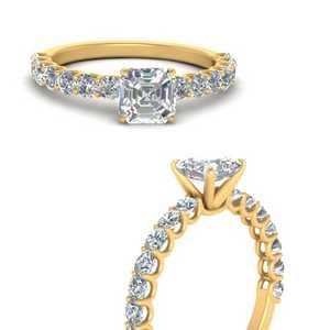 asscher-cut-moissanite-classic-diamond-ring-in-FDENR1718ASRANGLE3-NL-YG