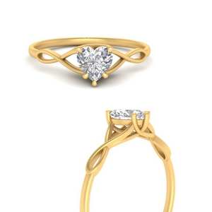 Heart Solitaire Lab Diamond Rings