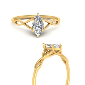 Marquise Solitaire Engagement Rings