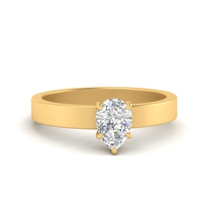 Simple Solitaire Lab Made Diamond Ring