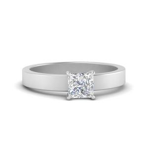 Princess Cut Solitaire Lab Diamond Rings