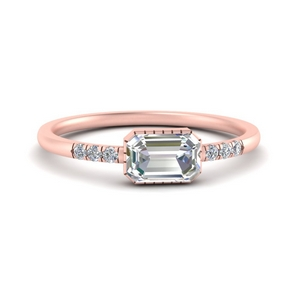 Minimalist Art Deco Diamond Ring