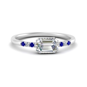 Art Deco Moissanite Ring
