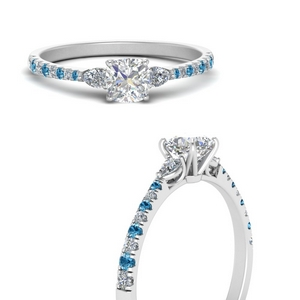 pear-3-stone-cathedral-cushion-cut-diamond-engagement-ring-with-blue-topaz-in-FDENR263CURGICBLTOANGLE3-NL-WG
