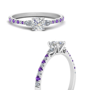 pear-3-stone-cathedral-cushion-cut-diamond-engagement-ring-with-purple-topaz-in-FDENR263CURGVITOANGLE3-NL-WG