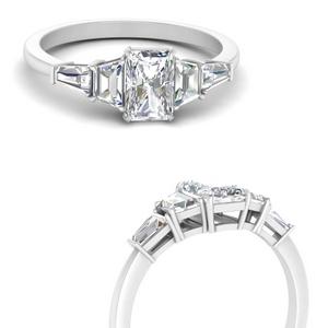 5 Stone Trapezoid Ring