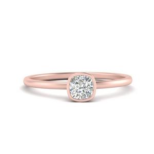 Cushion Solitaire Lab Diamond Rings