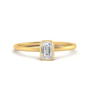 Lab Diamond Solitaire Ring