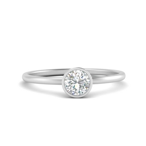 Bezel Single Solitaire Ring