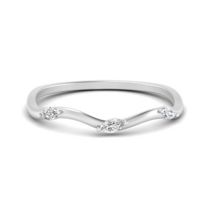 Wave Style Marquise Band