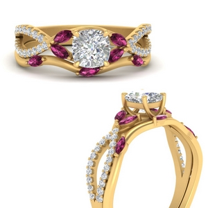 vine-willow-cushion-cut-diamond-ring-with-pink-sapphire-willow-wedding-set-in-FDENR3211BCUGSADRPIANGLE3-NL-YG